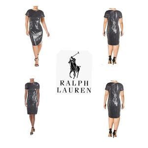 🎁🎄 NWT Ralph Lauren Kayleen Sequin Dress 🎄🎁